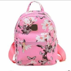 Handbags - 💕 MUST GO! Pink flower mini backpack 💕